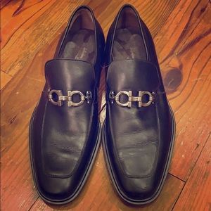 Salvatore Ferragamo Bit Black leather loafers